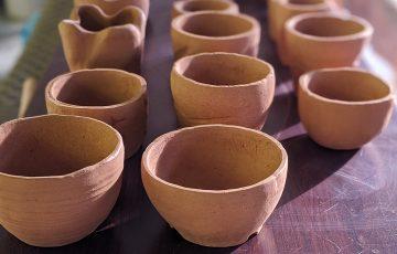 陶芸で鉢作り